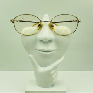 Elle Vintage Gold Oval Glasses Frames